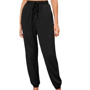 SHEIN Solid Drawstring Waist Sweatpants   XS
